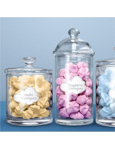 Etykietka Candy Bar Chmurka (Samolocik)