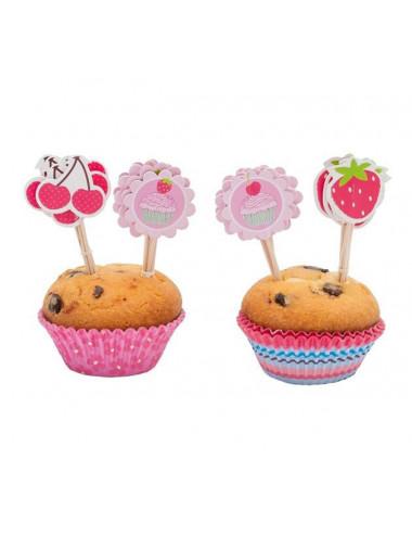 Zestaw dekoracyjny do muffinek Babeczki