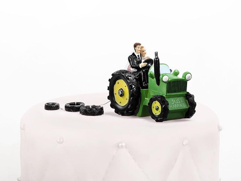 Figurka Para Młoda na traktorze