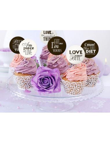 Karteczki na piku dekoracja deserów