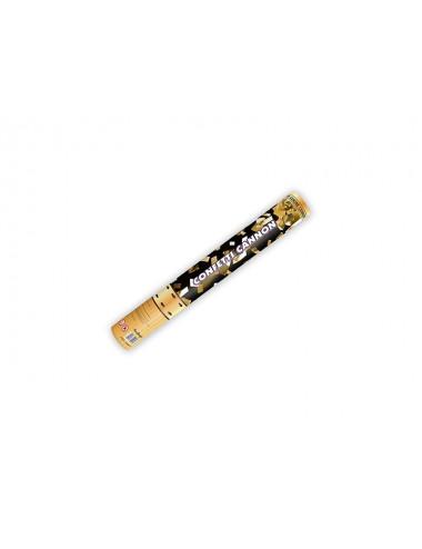 Wystrzałowe konfetti tuba złote prostokąty