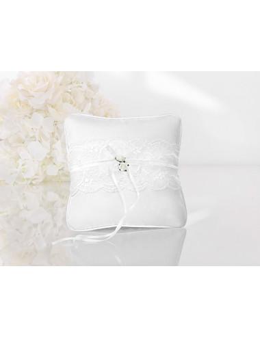 Poduszka pod obrączki biały Vintage