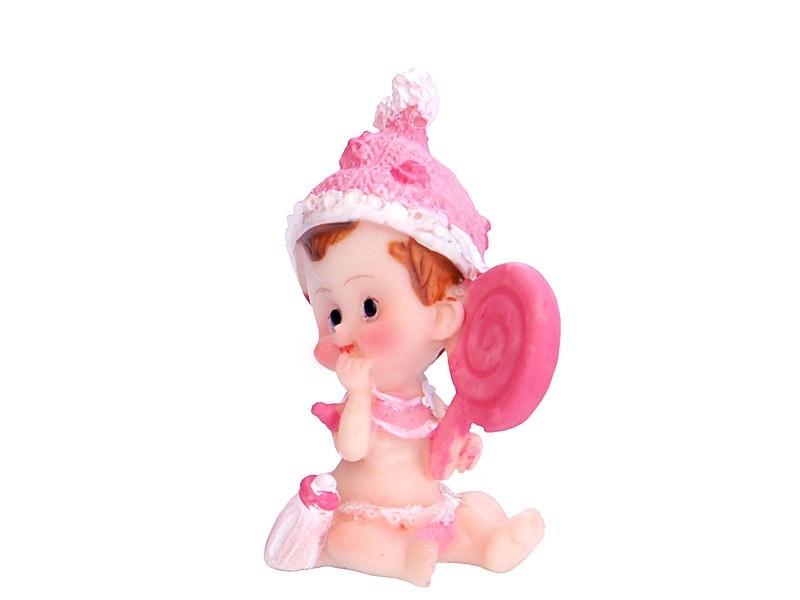 Figurka na tort chrzest z zabawką