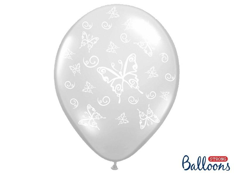 Balony przezroczyste z nadrukiem białym