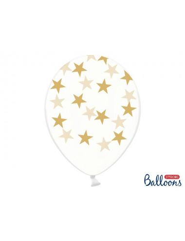 Balony przezroczyste w gwiazdki