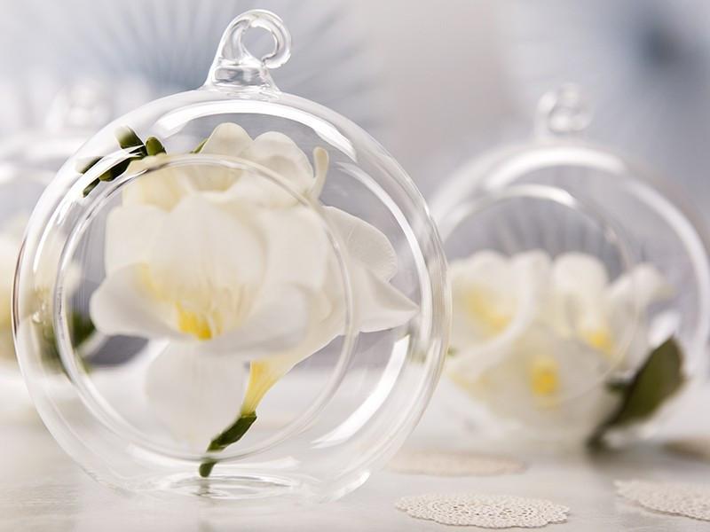 Kula szklana - świecznik