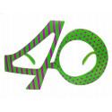 Okulary cyfry 40 urodziny