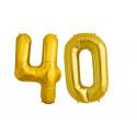 Balon foliowy olbrzymia 40 złota
