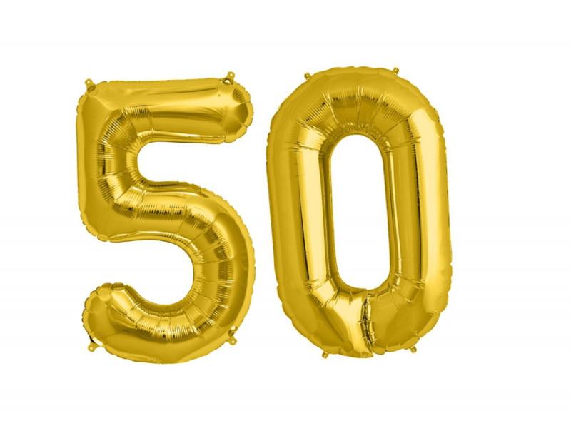 Balon foliowy olbrzymia 50 złota
