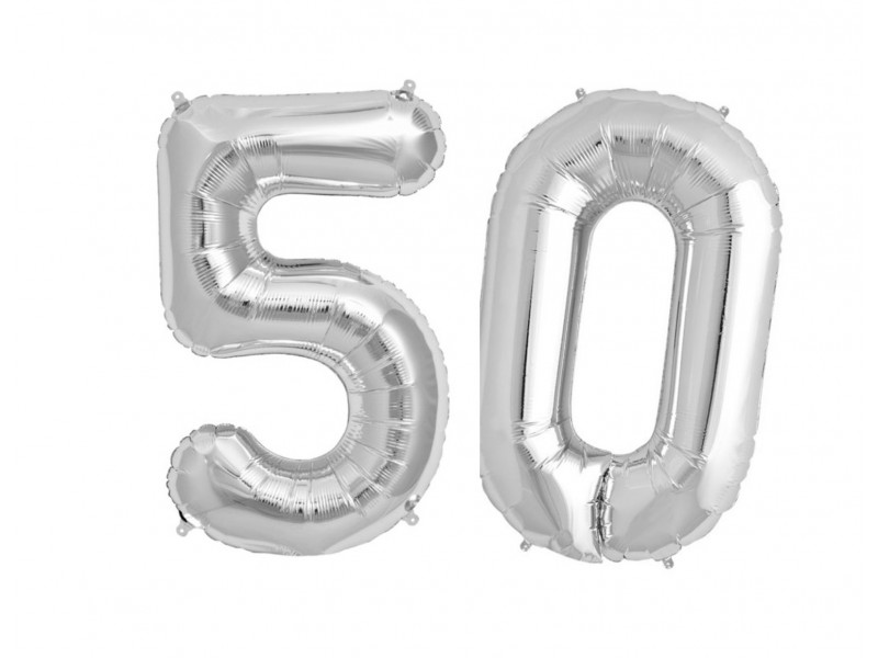 Balon foliowy olbrzymia 50 srebrne