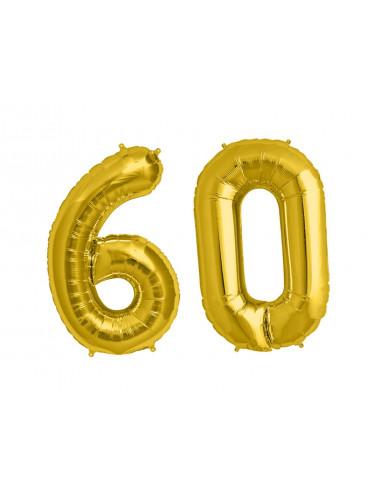 Balon foliowy olbrzymia 60 złota