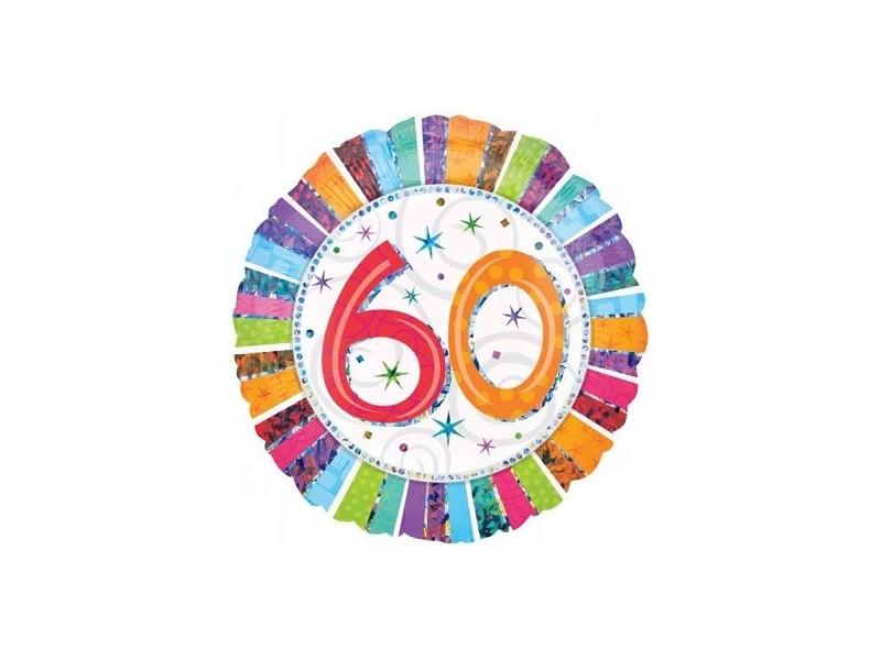 Okrągły balon olbrzym 60 urodziny