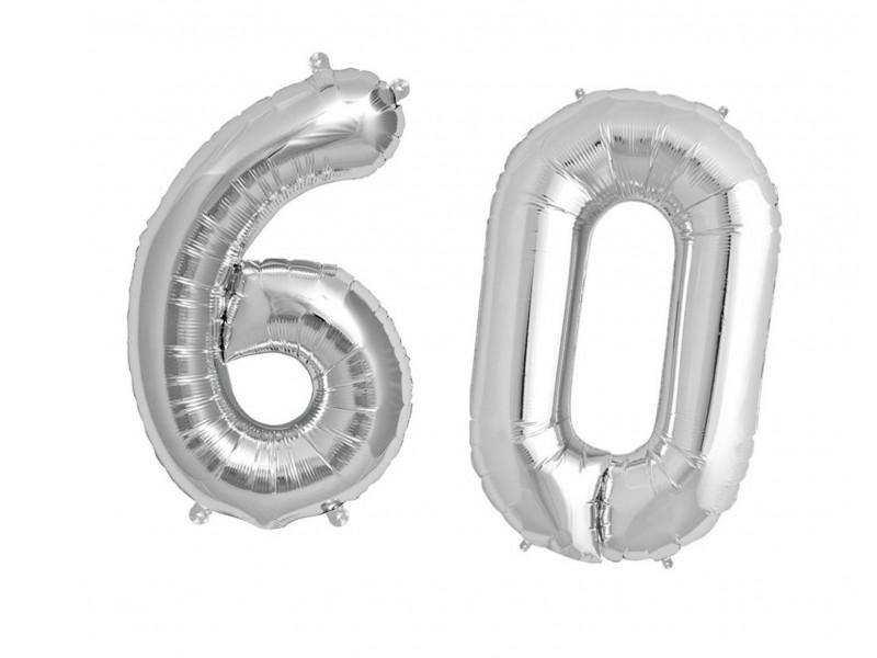 Balon foliowy olbrzymia 60 srebrne