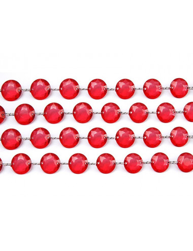 Czerwona girlanda kryształowa
