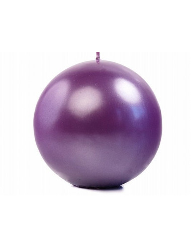 Świece kule metalizowane purpurowe