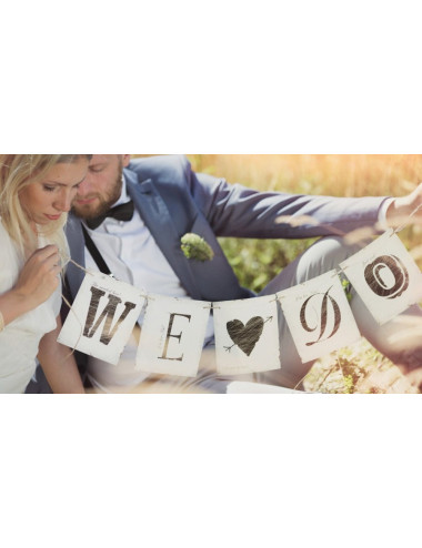 Baner ślubny We Do
