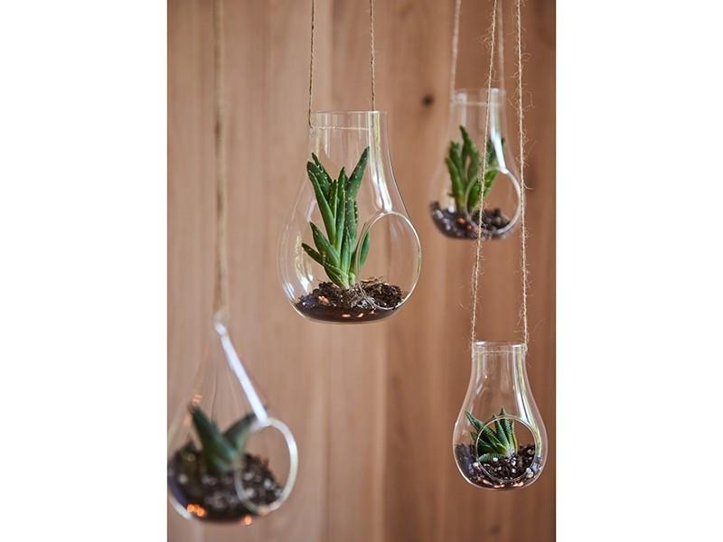 Dekoracja szklana wisząca otwarta