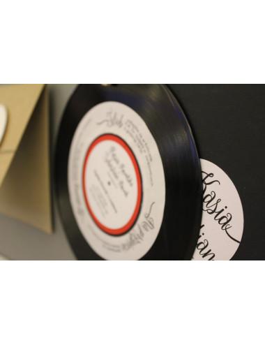 Zaproszenia płyty płyta winylowa retro