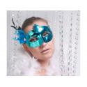 Maska karnawałowa z piórkiem Party