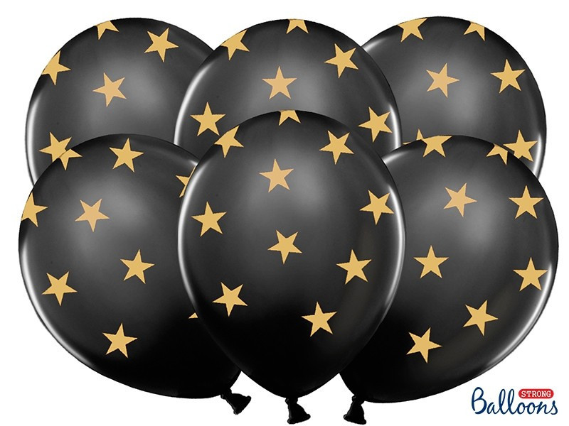 Balony czarne gwiazdki