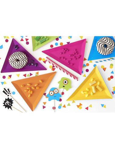 Talerzyki trójkątne kolorowe