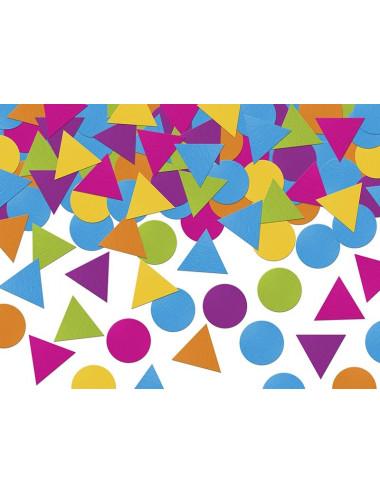 Konfetti kolorowe geometryczne