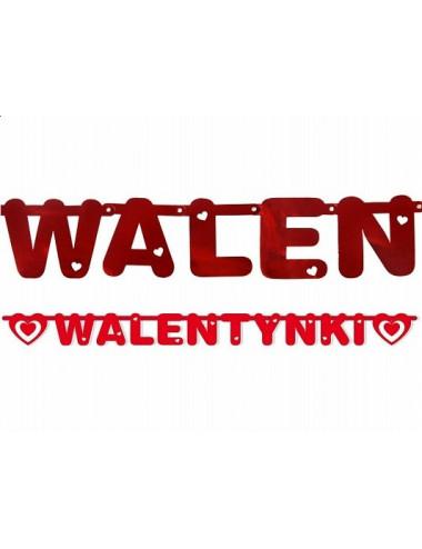 Baner napis Walentynki