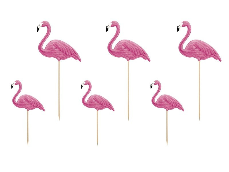 Flamingi na piku Aloha toppery