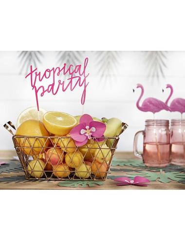 Dekoracja tortu napis Tropical Party