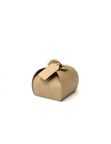 Pudełka kraft z zawieszką Kolekcja Rustykalna