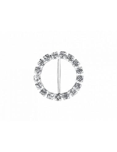Klamry kółka z kryształkami