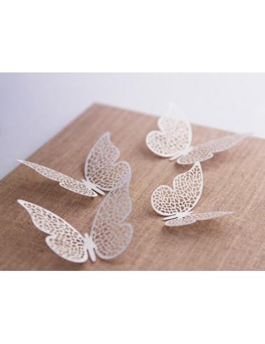 Dekoracyjne motylki ażurowe