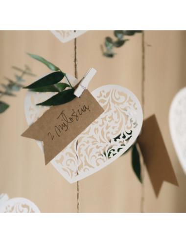 Dekoracyjne papierowe -  Serce
