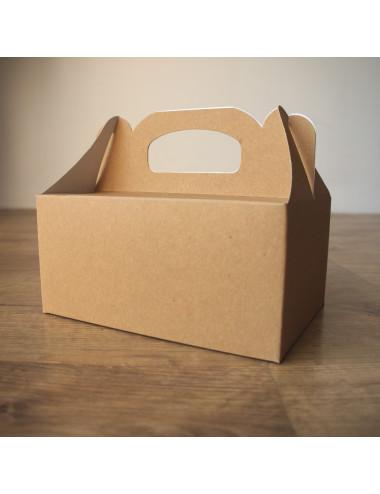 Eko pudełko na ciastka / ciasto papier kraft