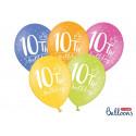 Balony pastelowe z cyfrą
