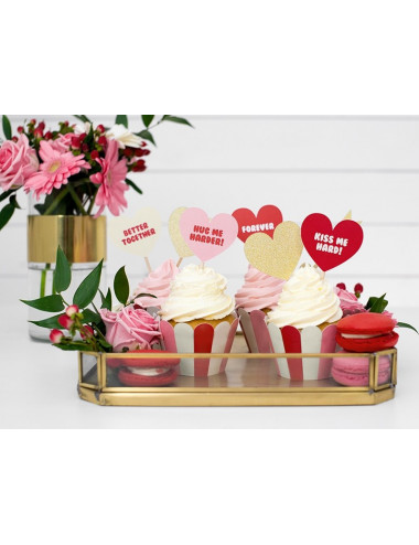Dekoracje do muffinek Sweet Love