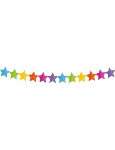"""Girlanda papierowa """"Kolorowe gwiazdki"""""""