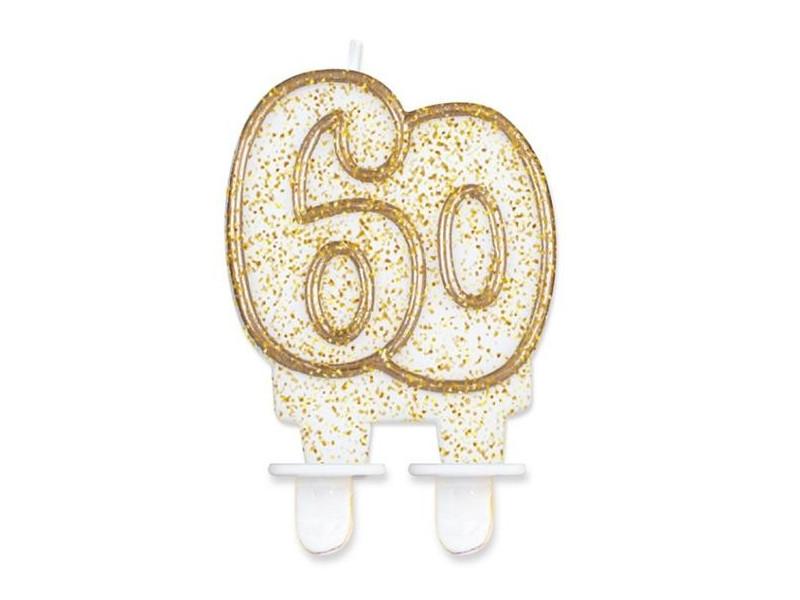 """Świeczka cyferka """"60"""""""