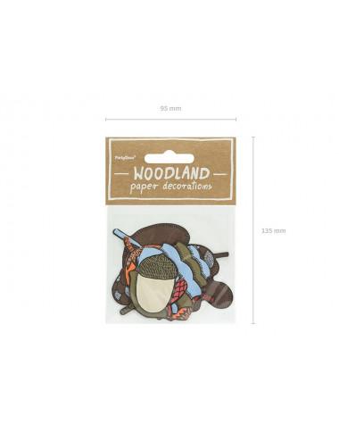 Dekoracje papierowe Woodland