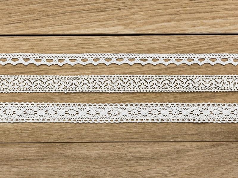 Koronka bawełniana biała