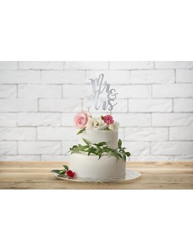 Topper na tort Mr&Mrs