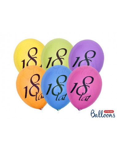 Balon pastelowy mix 18-stka