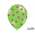 Balony pastelowe z nadrukiem KROPKI