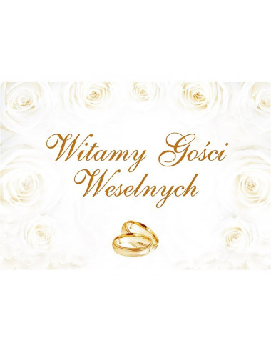 Plakat weselny