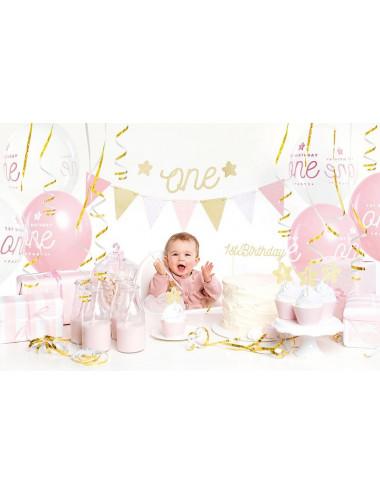 Zestaw dekoracji party - 1st Birthday