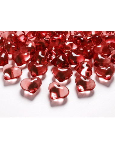 Kryształowe serca akrylowe
