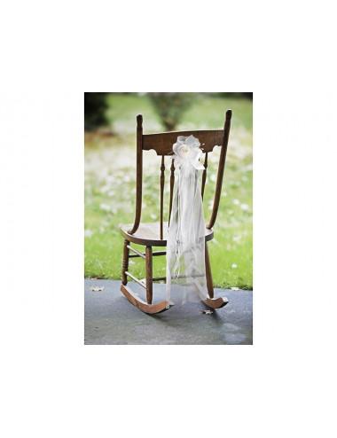 Bukiecik z organzą na krzesło