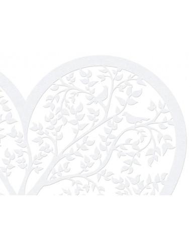 Dekoracyjne papierowe - Serce drzewo