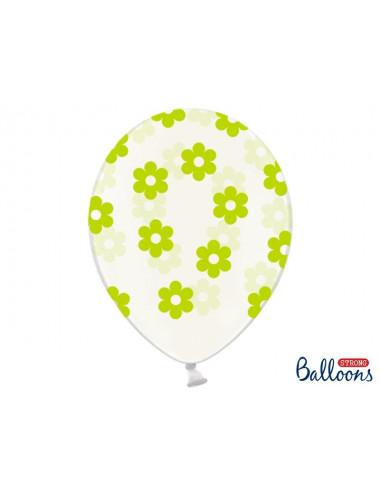 Balony przeźroczyste w kwiatki