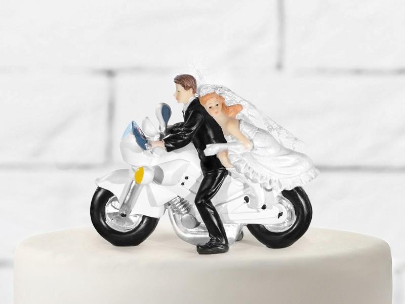 Figurka Para Młoda na klasycznym motorze